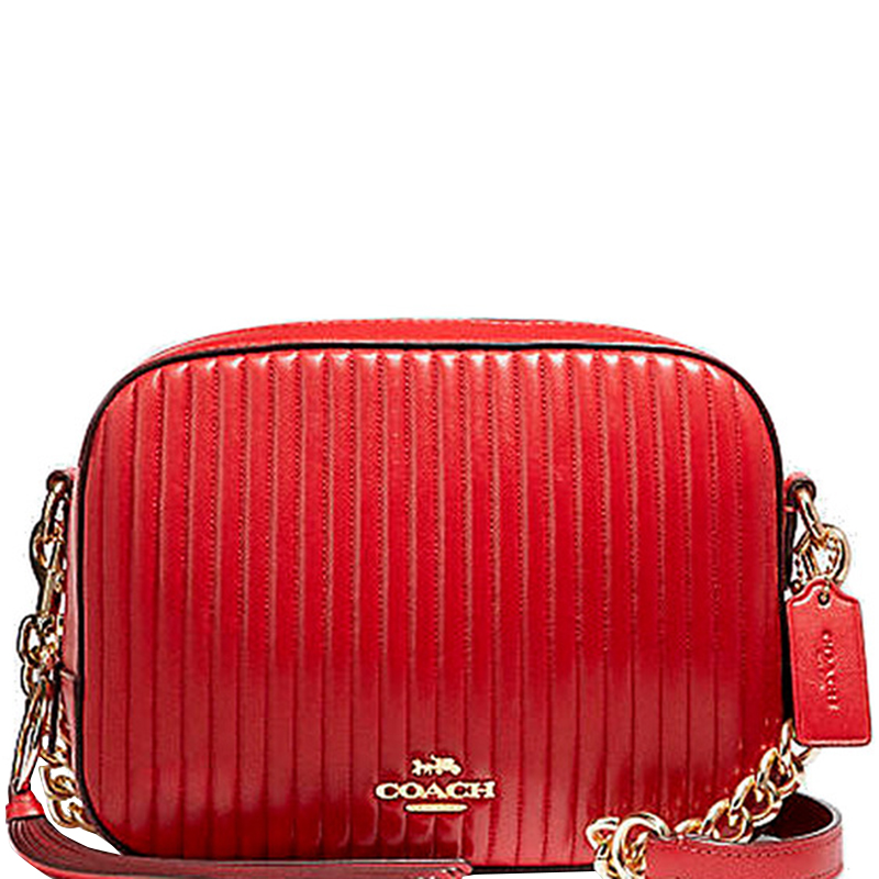08fba84b6f17 Buy Coach Red Quilted Leather Camera Bag 161884 at best price