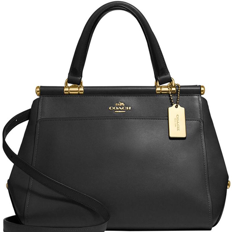 155966faea Coach Black Leather Grace Satchel Bag
