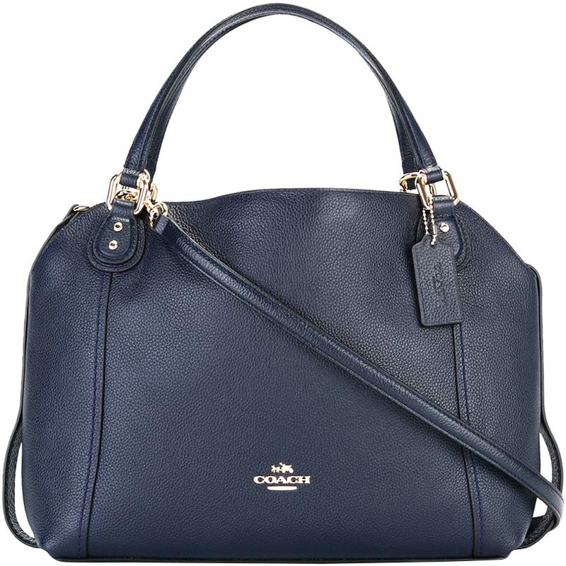 60d221c894 Coach Blue Leather Edie 28 Shoulder Bag