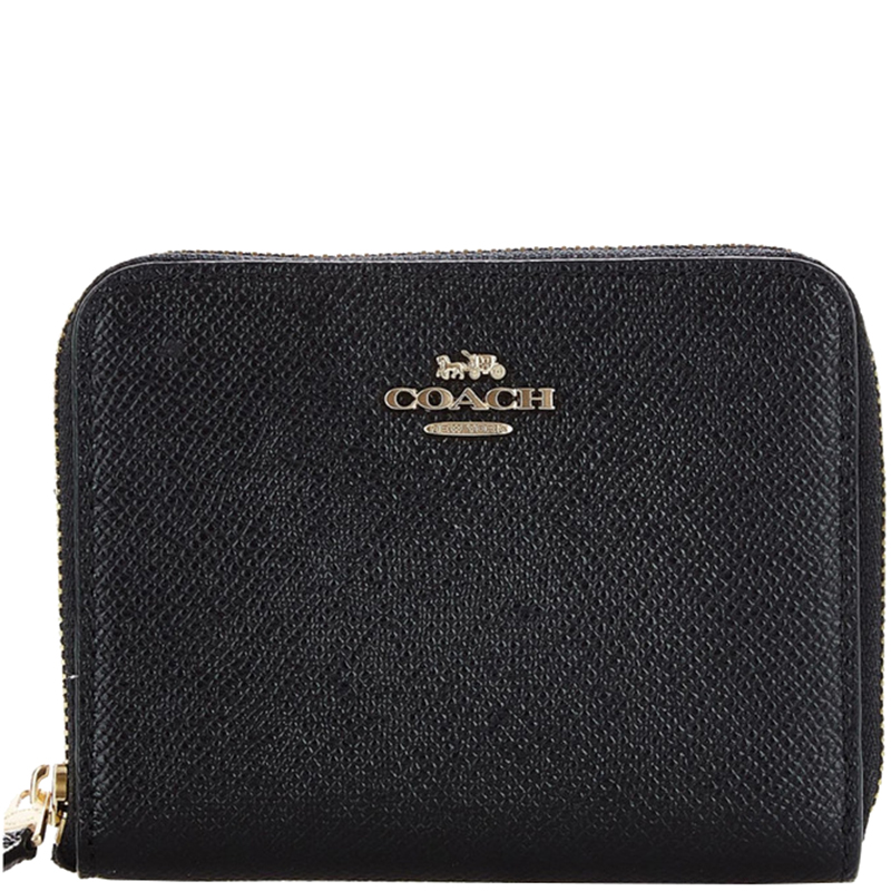 5ed183a346 Buy Coach Black Crossgrain Leather Small Zip Around Wallet 181483 at ...