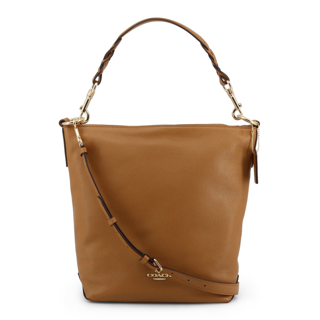 Coach Brown Pebble Leather Abby Duffle Shoulder Bag
