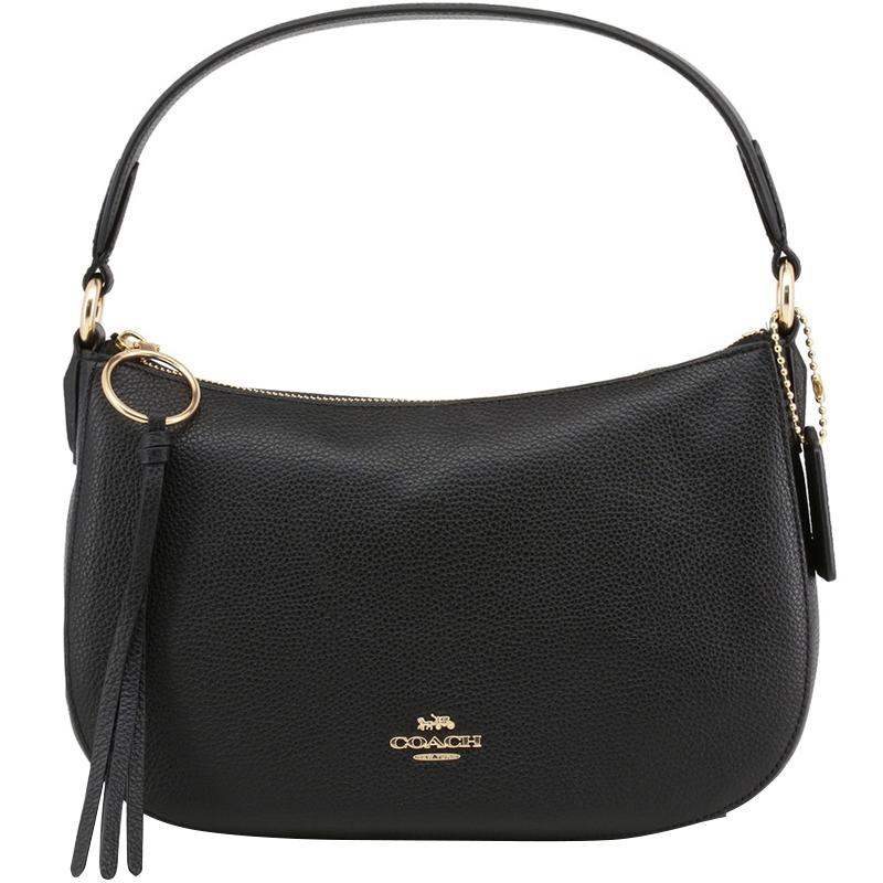 116eee80b8d45 Buy Coach Black Polished Pebble Leather Sutton Crossbody Bag 199166 ...