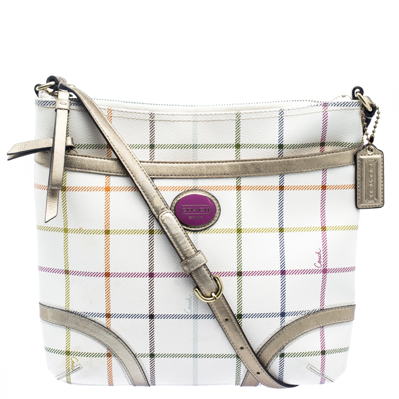 0f753791c938 ... Coach Multicolor Tattersall Coated Canvas Crossbody Bag. nextprev.  prevnext