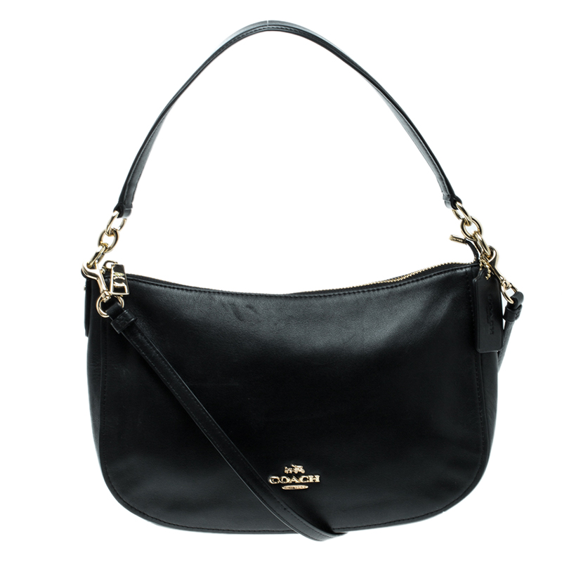 2809a5762314 Buy Coach Black Leather Chelsea Crossbody Bag 126787 at best price