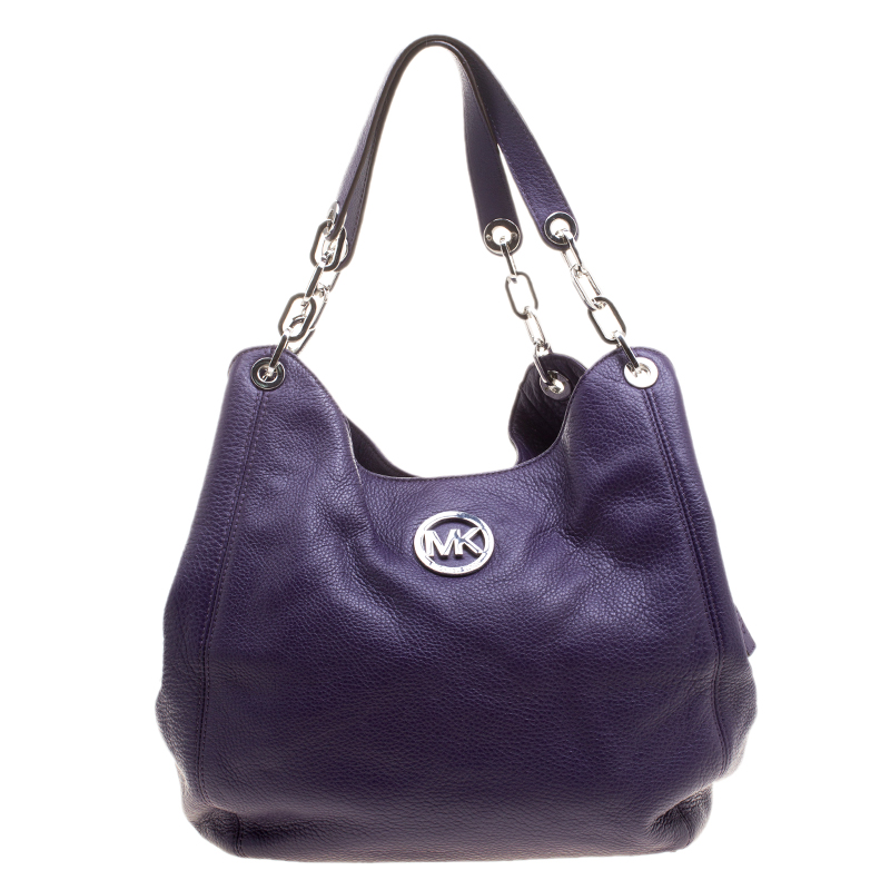 ... Michael Kors Purple Leather Fulton Shoulder Bag. nextprev. prevnext 8a4f1100a09a2