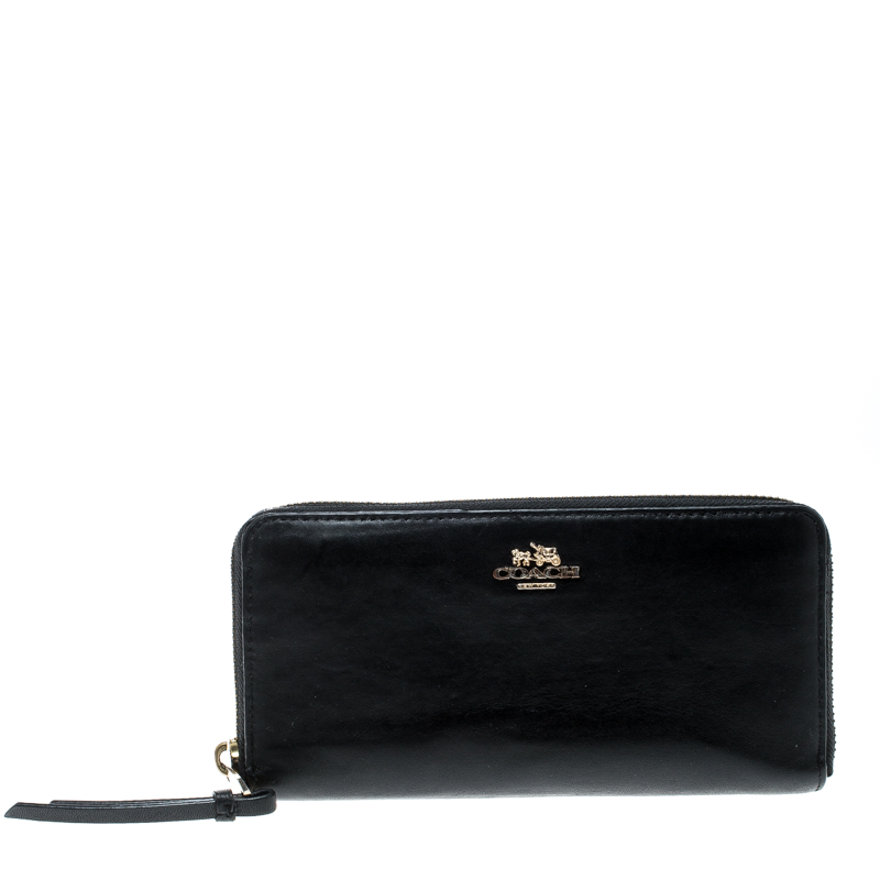 9642fc489b Buy Coach Black Leather Zip Around Wallet 167495 at best price | TLC