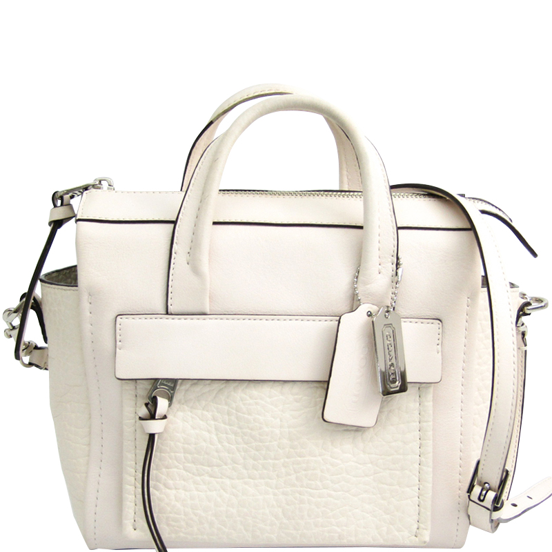 buy coach white leather mini bleecker riley bag 170068 at best price rh theluxurycloset com
