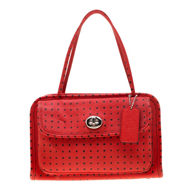beb41717d ... Coach Red Printed Leather Cady Crossbody Bag. nextprev. prevnext