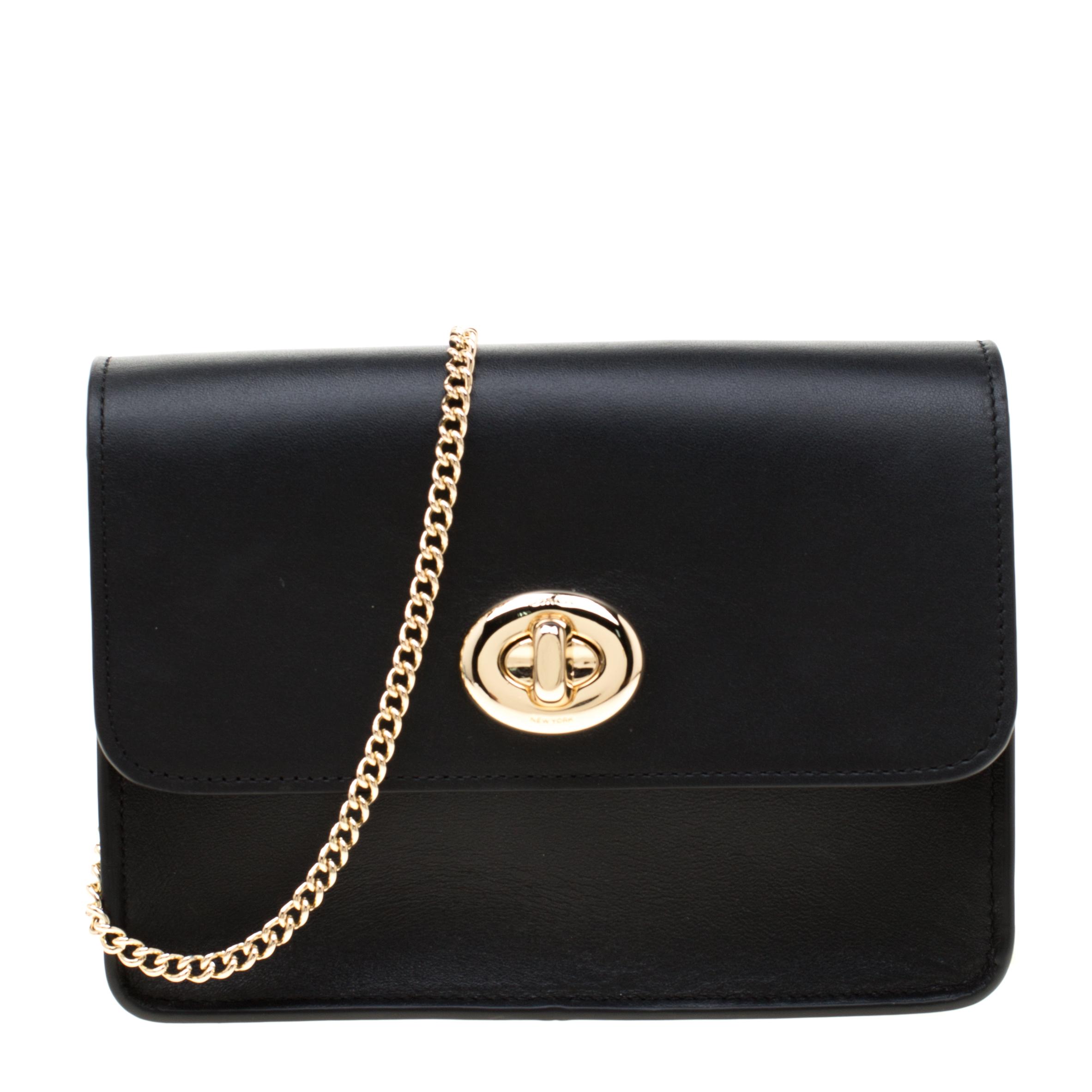 eb05063a0a Coach Black Leather Bowery Crossbody Bag