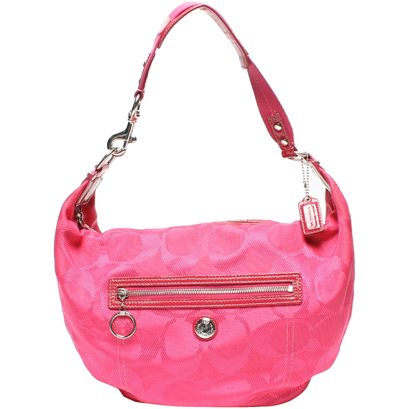Official Website 100% quality quarantee discount up to 60% Coach Pink Signature Canvas Hobo Bag