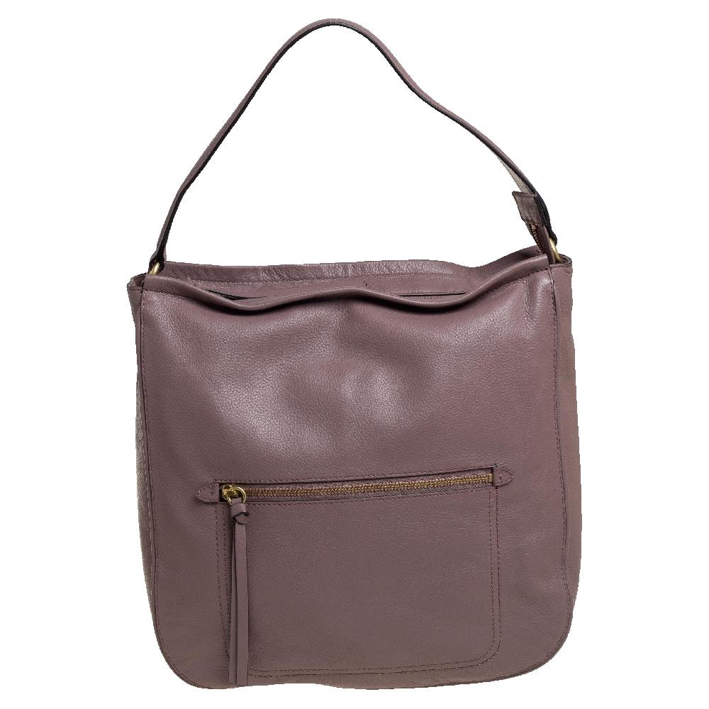 Pre-owned Cole Haan Mauve Purple Leather Jade Bucket Bag
