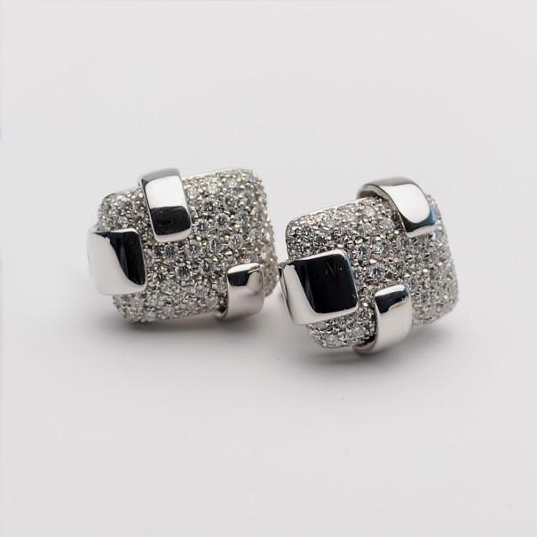 Купить со скидкой Damiani Diamond Pavé Setting White Gold Clip Earrings