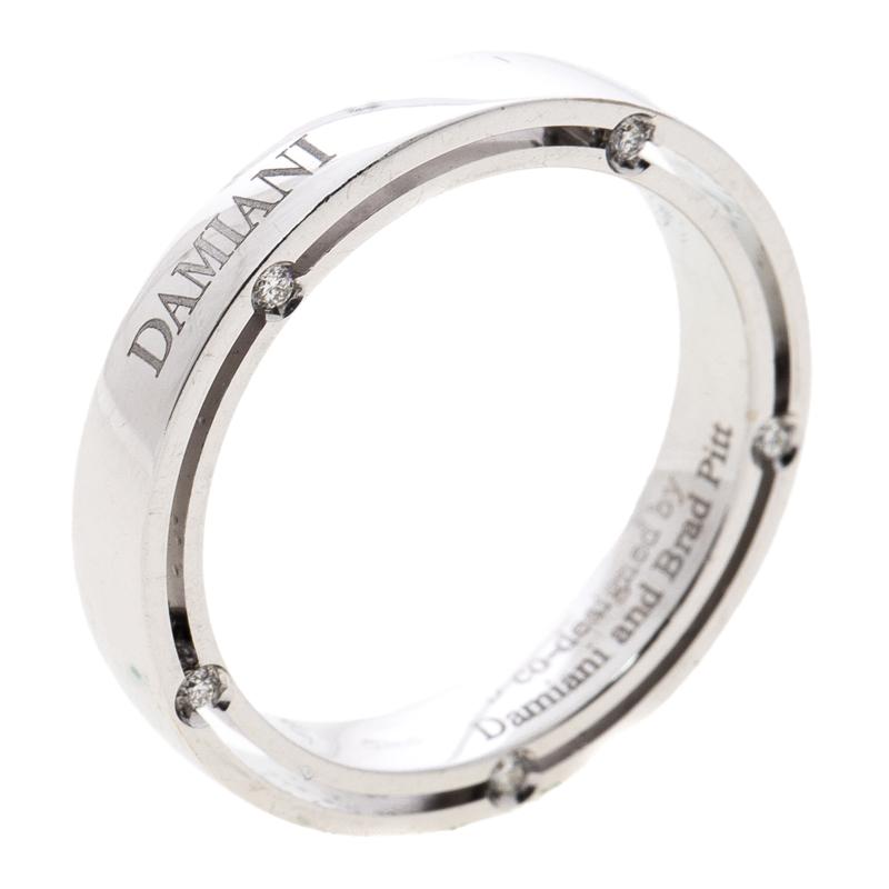 Buy Damiani Brad Pitt Diamond 18k White Gold Wedding Band Ring