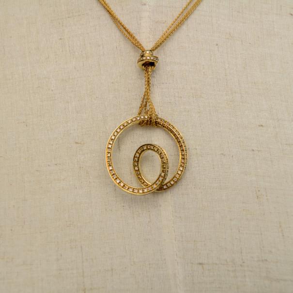 Купить со скидкой Damiani Diamonds and Yellow Gold Necklace