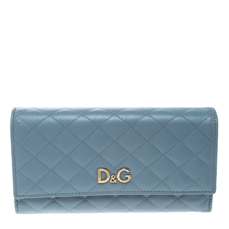 322b7ecd3ecfd ... Blue Quilted Leather Tri Fold Continental Wallet. nextprev. prevnext
