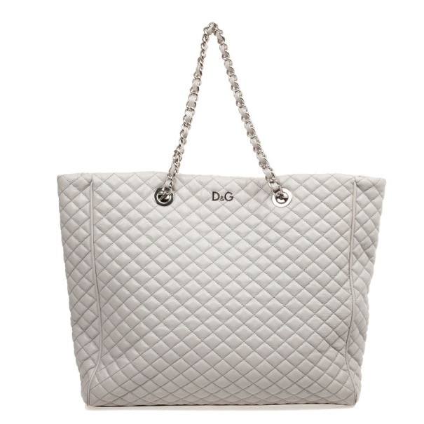 Buy D G Grey Quilted Lily Glam Tote Bag 32715 at best price  55a1240a5dda0