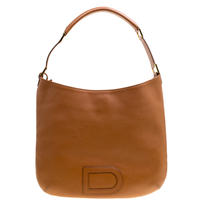 Delvaux Brown Leather Louise Hobo