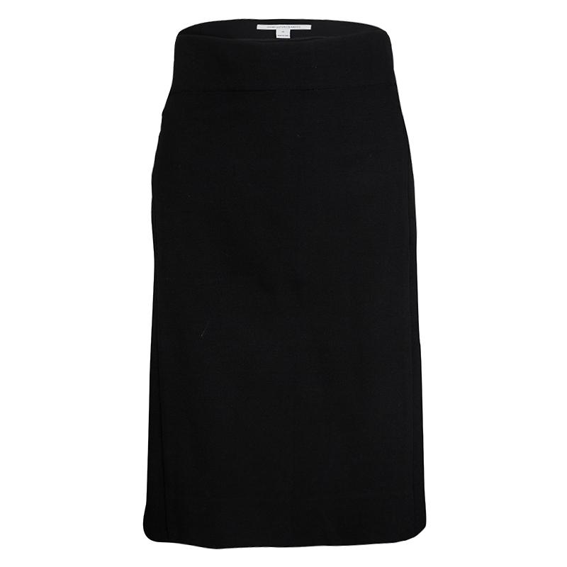 Diane Von Furstenberg Black Jersey New Koto Midi Skirt L