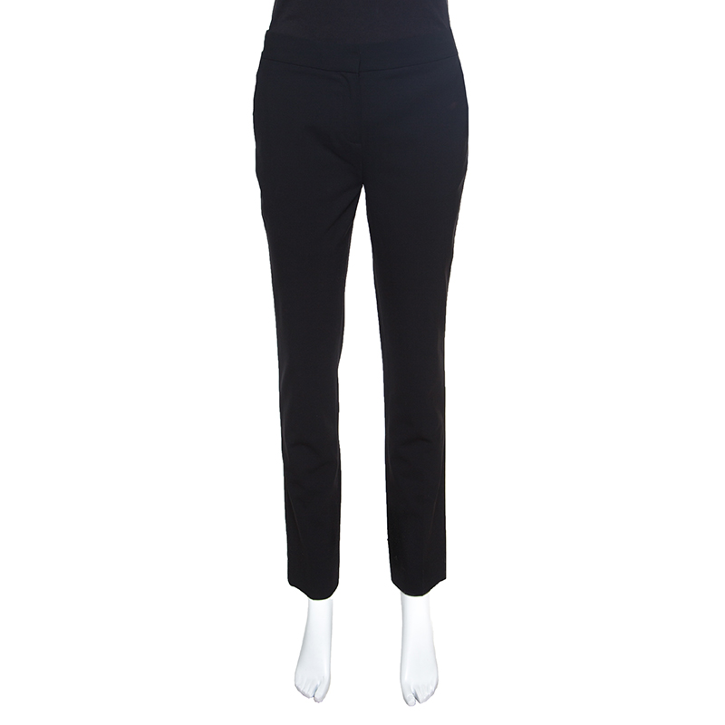Фото #1: Diane Von Furstenberg Black Wool Cigarette Pants S