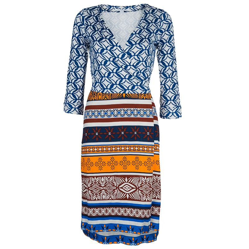 137f71fa2935c ... Diane Von Furstenberg Multicolor Printed New Julian Two Desert Band Wrap  Dress S. nextprev. prevnext