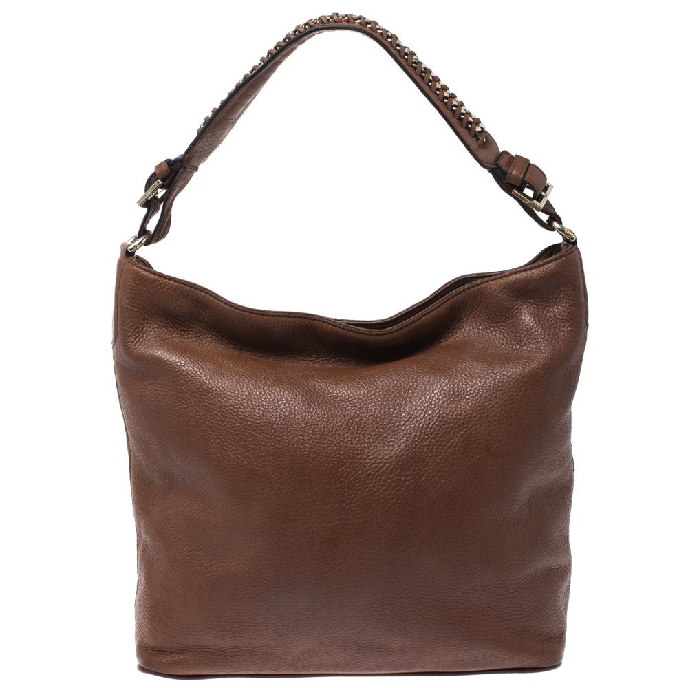 Diane Von Furstenberg Brown Synthetic Leather Iggy Shoulder Bag