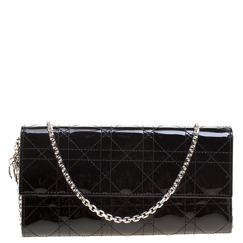 ... Dior Black Cannage Patent Leather Lady Dior Wallet on Chain. nextprev.  prevnext 803bbaf436f1d