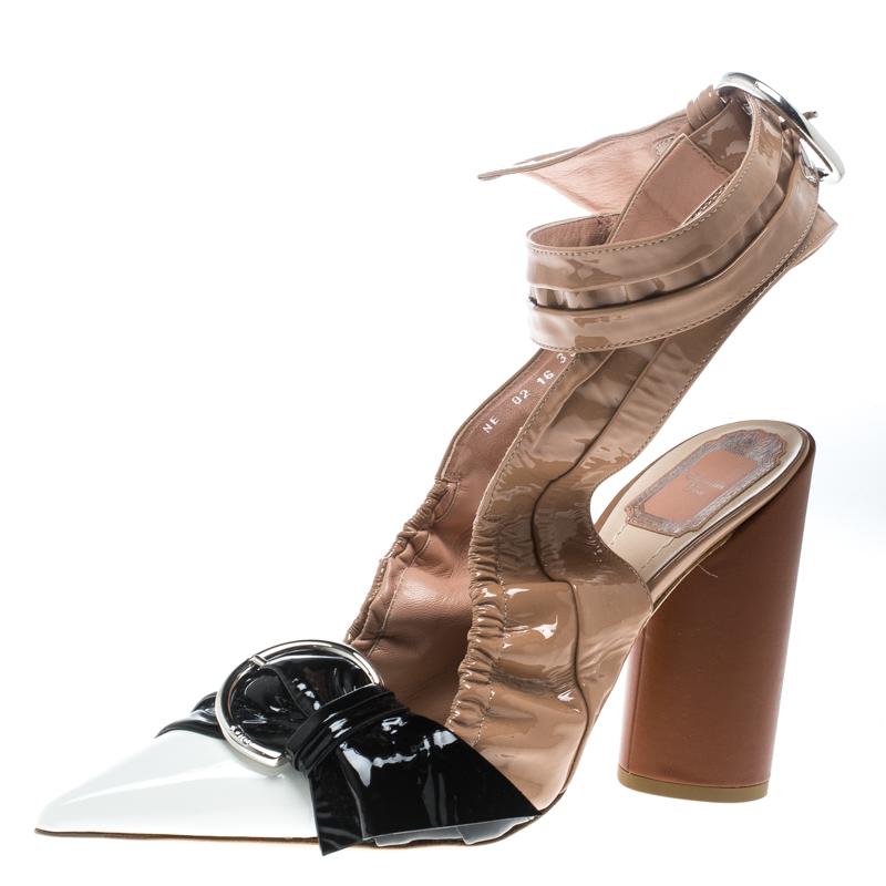 be3a8d23c5f ... Dior Multicolor Patent Leather Conquest Buckle Detail Ankle Wrap  Sandals Size 39. nextprev. prevnext