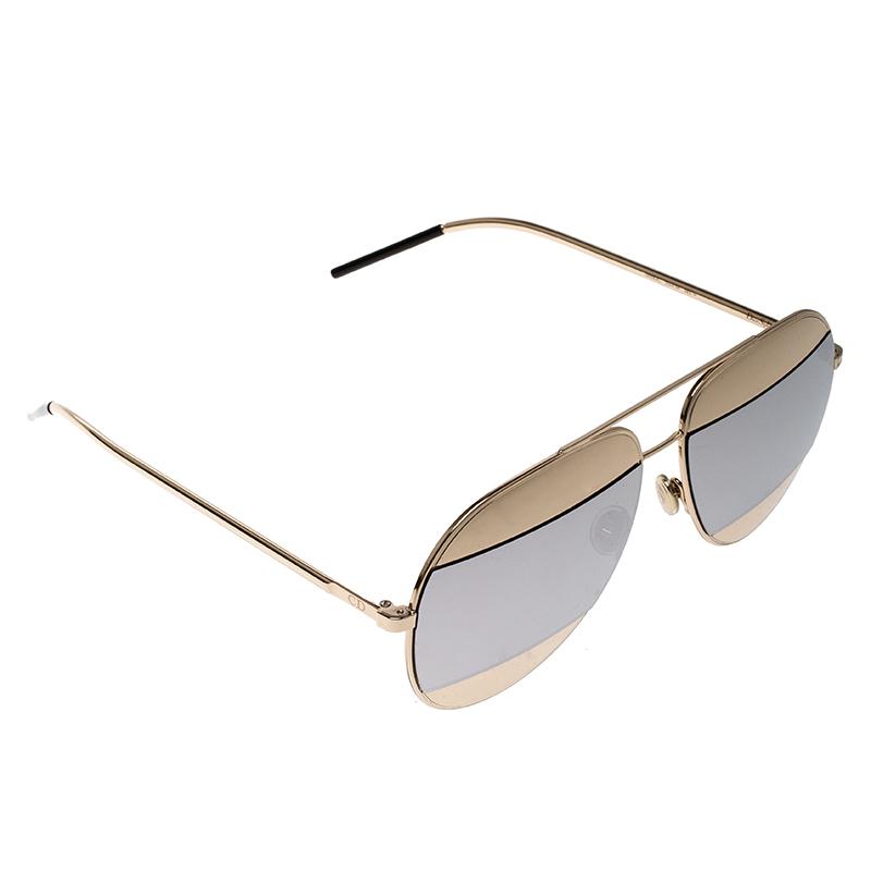 274595a0f1 ... Dior Gold Silver Mirrored 000DC Split 1 Aviator Sunglasses. nextprev.  prevnext