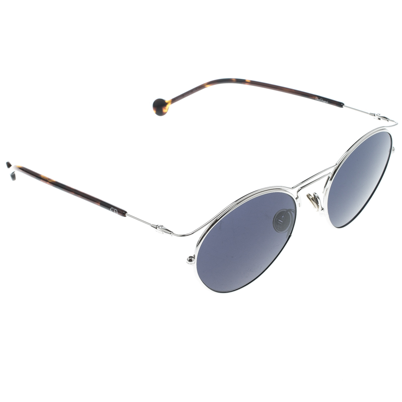 723f1ecdbe Buy Dior Silver Blue 8JDKU Dior Origins 1 Oval Sunglasses 151731 at ...
