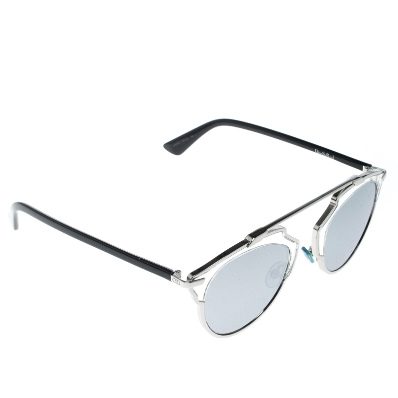 2d1f1339692 Buy Dior Silver Black Silver Mirrored APPDC So Real Round Sunglasses 156688  at best price