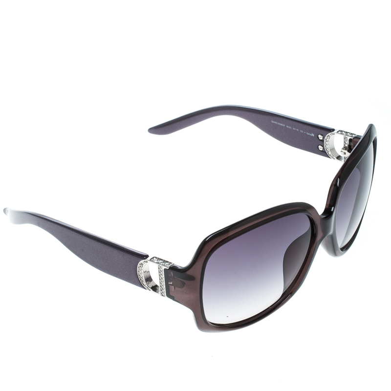 Купить со скидкой Dior Black Transparent/Black Gradient DIOREVENINGF Oversize Square Sunglasses