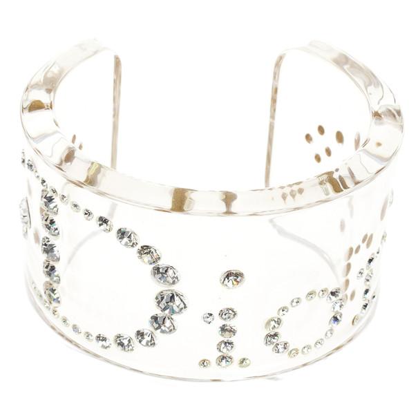 6f352702fd ... Christian Dior Vintage Lucite Crystal Clear Bangle 18 CM. nextprev.  prevnext
