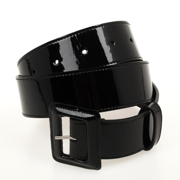 fca36ed3e42 ... Christian Dior Black Patent Womens Belt 81 CM. nextprev. prevnext