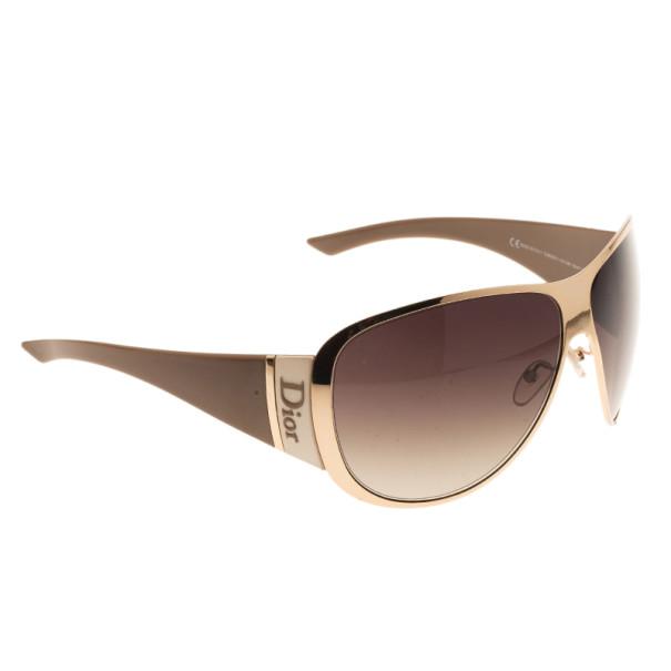 f0b2a28ea0 Buy Dior Gold Subdior 1 Oversized Aviators 4071 at best price