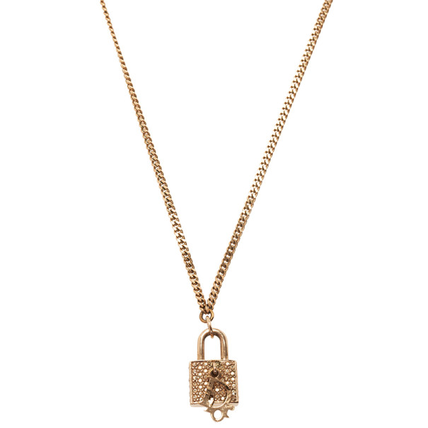756f6cf26e54 Buy Dior Lock Crystal Pendant Necklace 5414 at best price