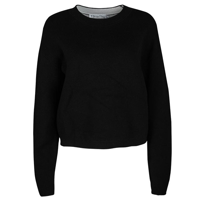 fc9ad0a99 Buy Dior Black Cashmere J'ADIOR 8 Sweater M 116750 at best price | TLC