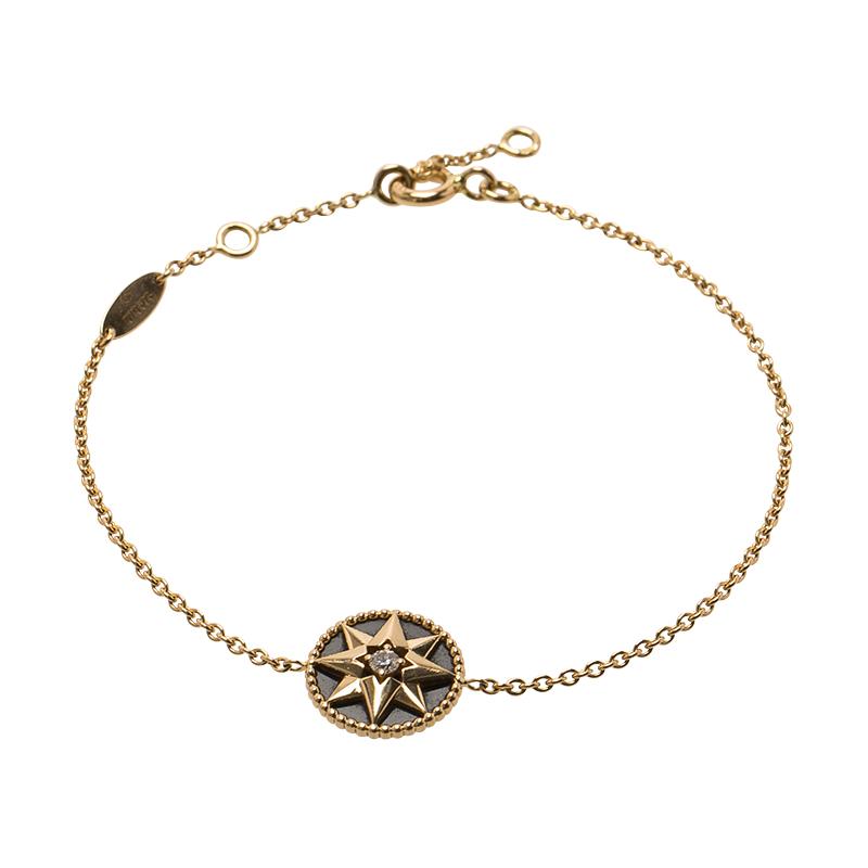 bd41f58835 Dior Rose des Vents Diamond Onyx Rose Gold Bracelet