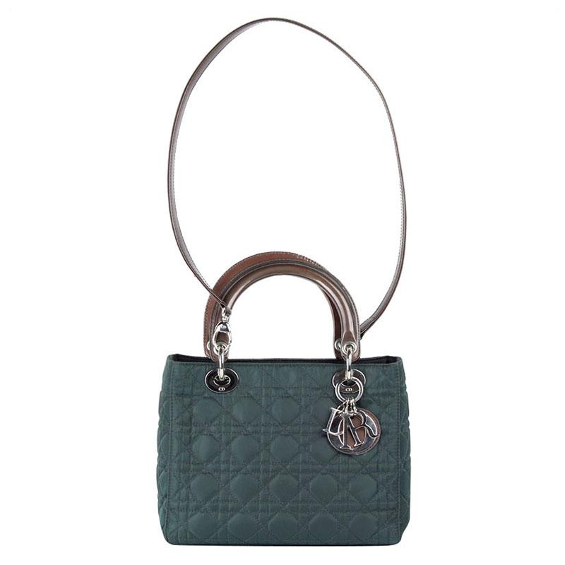 98b118425a3b9 إشتري حقيبة ديور ليدي ديور نايلون كاناج أخضر مبطن متوسطة 102408 ...