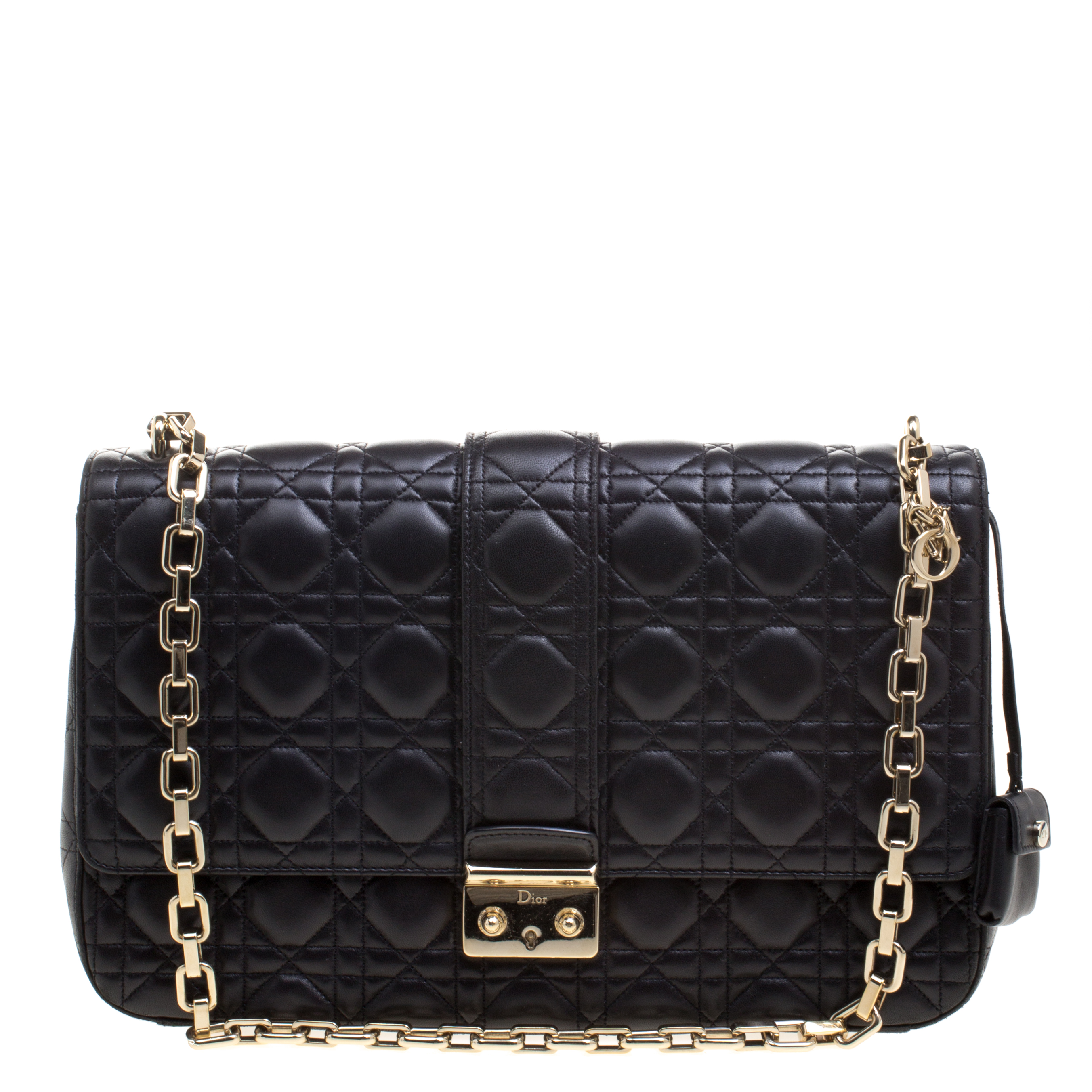 cadb6e4208c30 Buy Dior Black Quilted Leather Large Miss Dior Flap Bag 109869 at ...