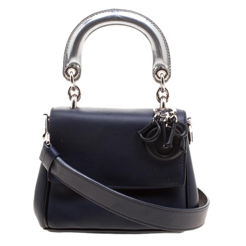 ... Dior Dark Blue Leather Micro Be Dior Flap Bag. nextprev. prevnext 5609c5a49a74e