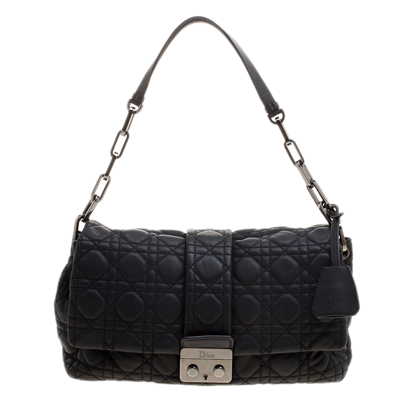 0eaecbd0a04f63 ... Dior Black Cannage Leather Medium Miss Dior Short Chain Flap Bag.  nextprev. prevnext