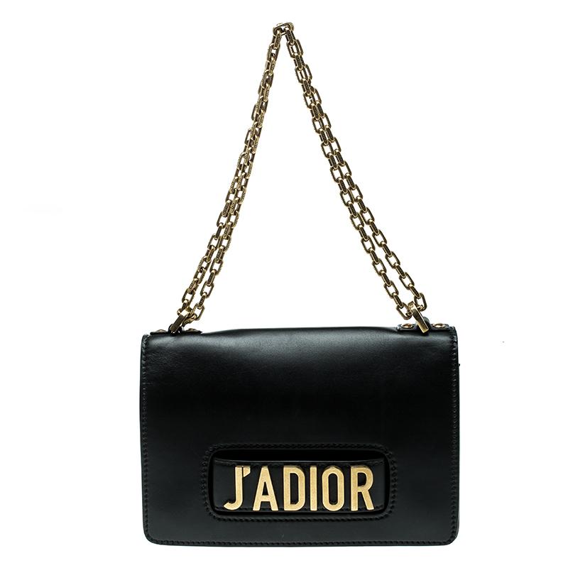 af32d03ac59 ... Dior Black Leather J adior Chain Shoulder Bag. nextprev. prevnext