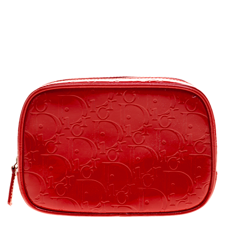 85363dee196 Buy Dior Red Patent Leather Trousse Cosmetic Bag 137670 at best ...