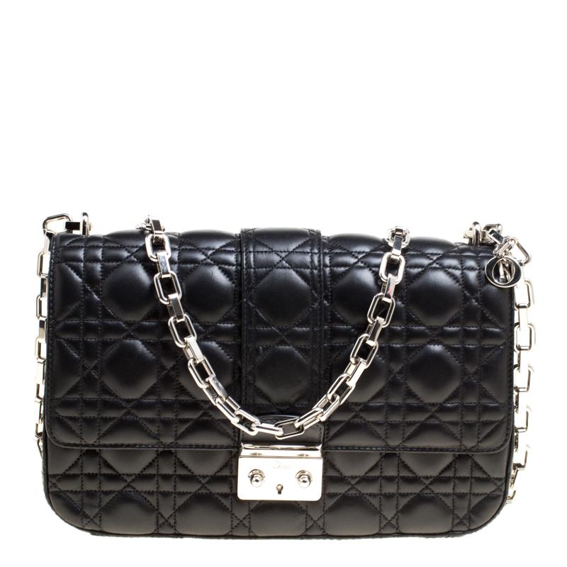 a8d63568fefd0f ... Dior Black Cannage Leather Miss Dior Medium Flap Bag. nextprev. prevnext