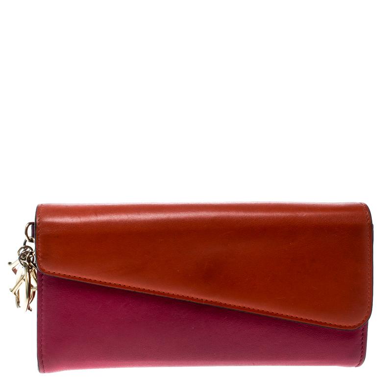5285f2169ad ... Dior Fuschia/Orange Leather Diorissimo Continental Wallet. nextprev.  prevnext