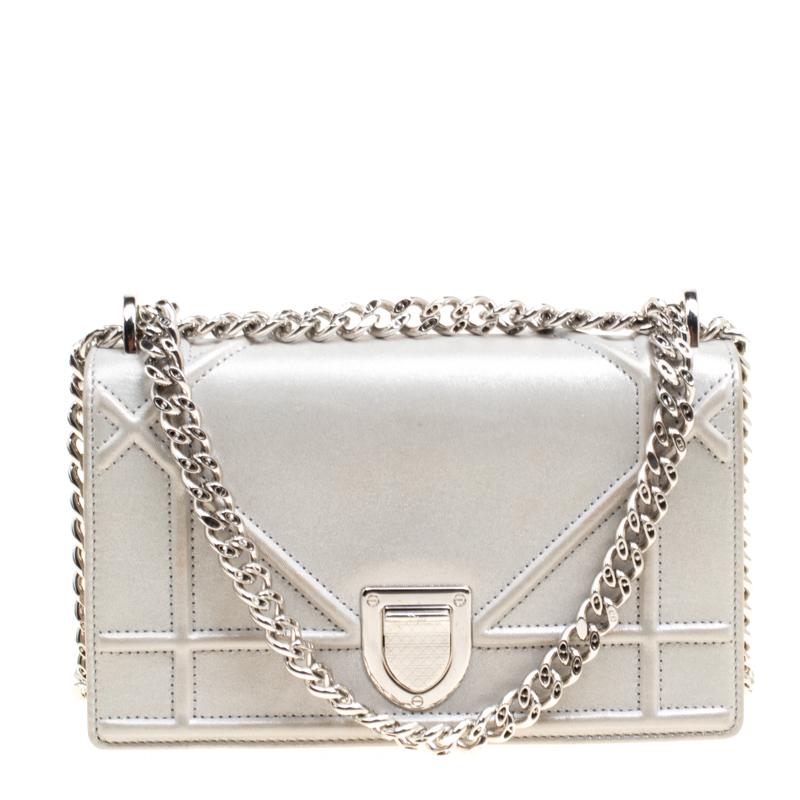 1a14bc924b81 ... Dior Metallic Grey Leather Mini Diorama Shoulder Bag. nextprev. prevnext