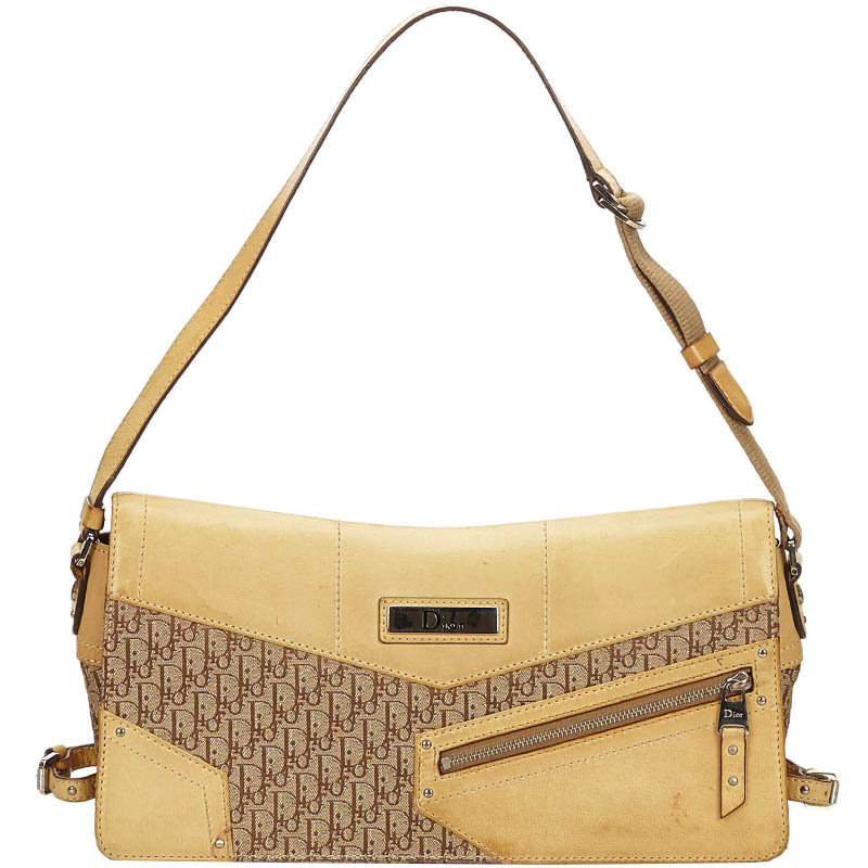 989c65738 ... Dior Beige Brown Oblique Canvas Shoulder Bag. nextprev. prevnext