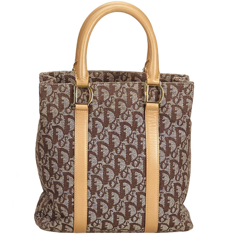 Buy Dior Brown Jacquard Canvas Oblique Tote 160339 at best price  2980eef98c6f5