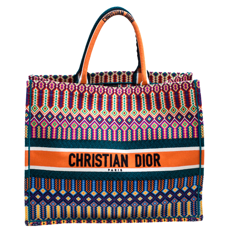 Buy Dior Multicolor Canvas Book Tote 164569 at best price  e6cf803d0