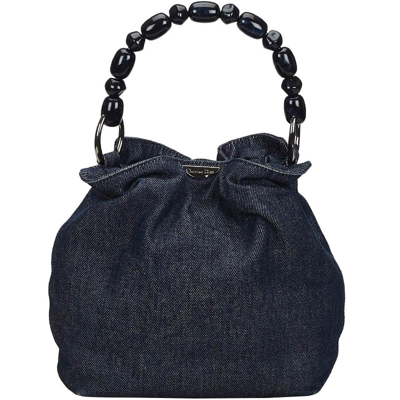 Christian Dior Blue Denim Malice Top Handle Bag